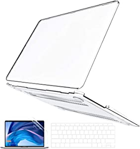 B BELK MacBook Air 13 Inch Case 2020 2019 2018 Release A2337 M1 A2179 A1932, Slim Crystal Clear Plastic Hard Shell Cover with Keyboard Cover & Screen Skin with Retina & Touch ID, MacBook Air 2020 Case