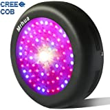 Mrhua CREE COB LED Grow Lamp Fixture, UFO 300W Plant Growing Lights Lamp UV & IR Full Spectrum grow light for Indoor Plant Veg and Flower(300W)