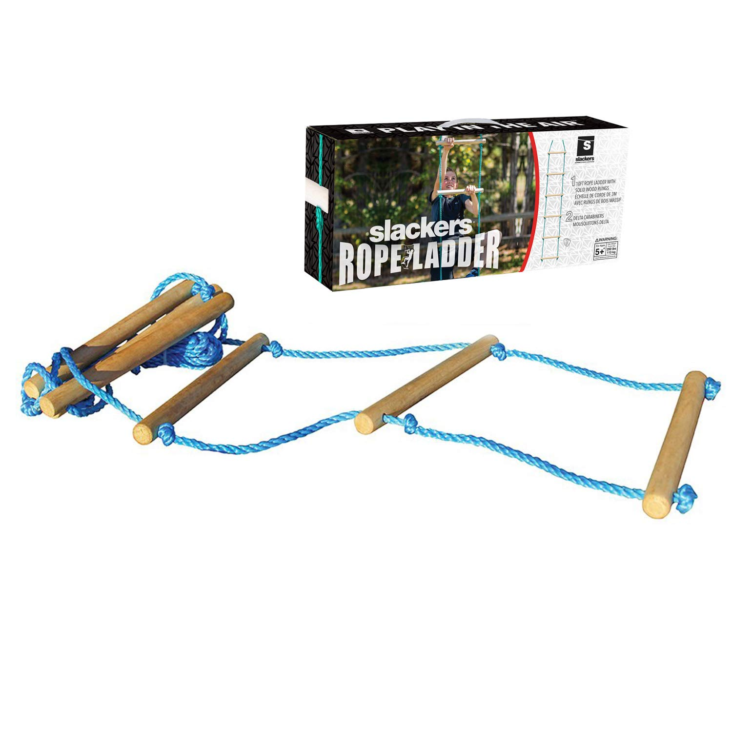 Slackers Rope Ladder, Teal, 10 Feet
