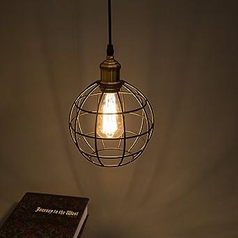best e retro metal suspensions luminaire cage plafonnier luminaire cage metal couloir. Black Bedroom Furniture Sets. Home Design Ideas