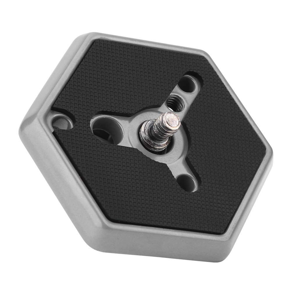 Hexagonal Quick Release Plates 3049 with 1//4 Screw for Manfrotto 030-14 RC0 3063 Camera Tripod Plate Support Adapter