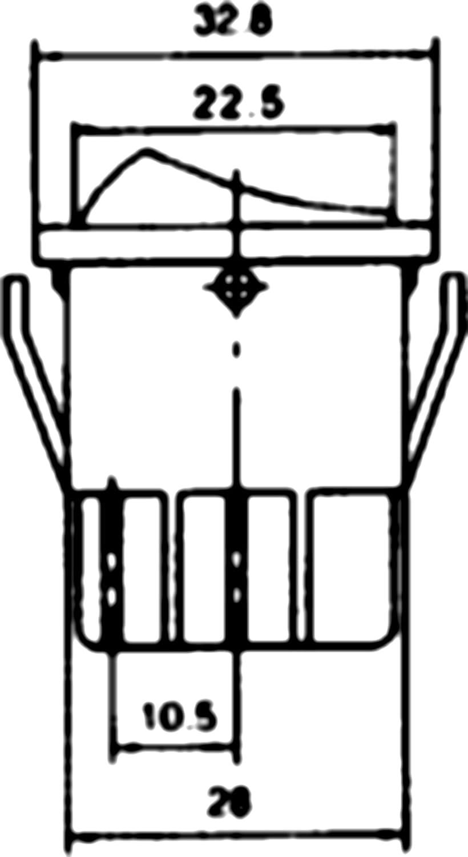 AERZETIX Interrupteur commutateur contacteur bouton /à bascule noir DP3T ON-OFF-ON 15A//250V 3 positions