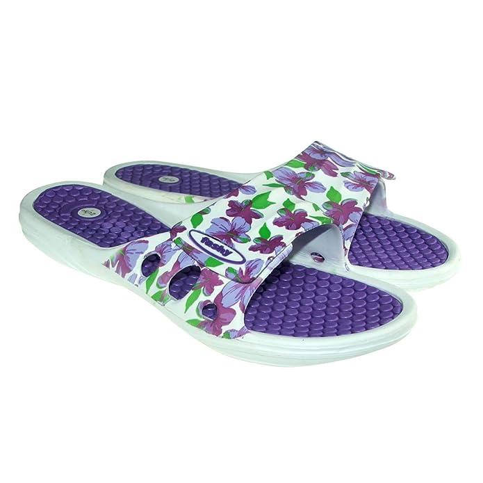 Badepantoletten Pina mit Komfort-Fußbett von Fashy (39, Blau)
