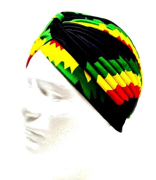 374bb4a857 Jamacian bandane Donne Bob Marley musulmano Turbante elastico Copricapo  Signora Chemo Avvolgere i capelli Beanie Copricapo
