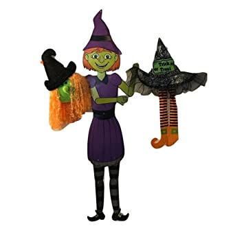halloween decorations witches galore scary and whimsical orange haired witch bundle
