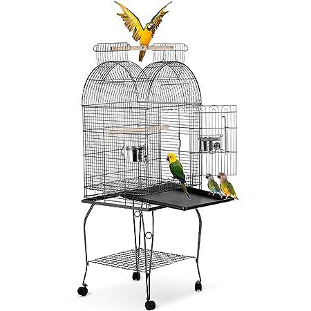 Jaula de Metal para Pájaro Mascotas pájaros Pajarera Casa ...