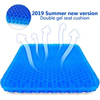Great-luck Gel Seat Cushion,Suptempo Thick Big Gel Seat Cushion,Newest Modified Double Gel Seat Cushion, for Pressure Relief Back Tailbone Pain - Home Office Chair Cars Wheelchair(with Mesh Seat Cover)