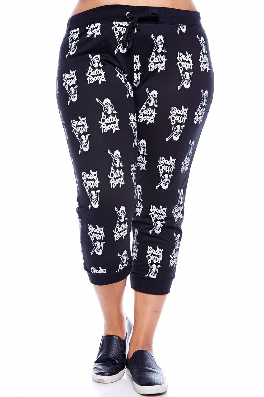 Womens Plus Size Betty Boop All over print Capri BB-128X/C