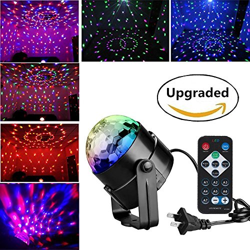 Disco party lights with remote control.