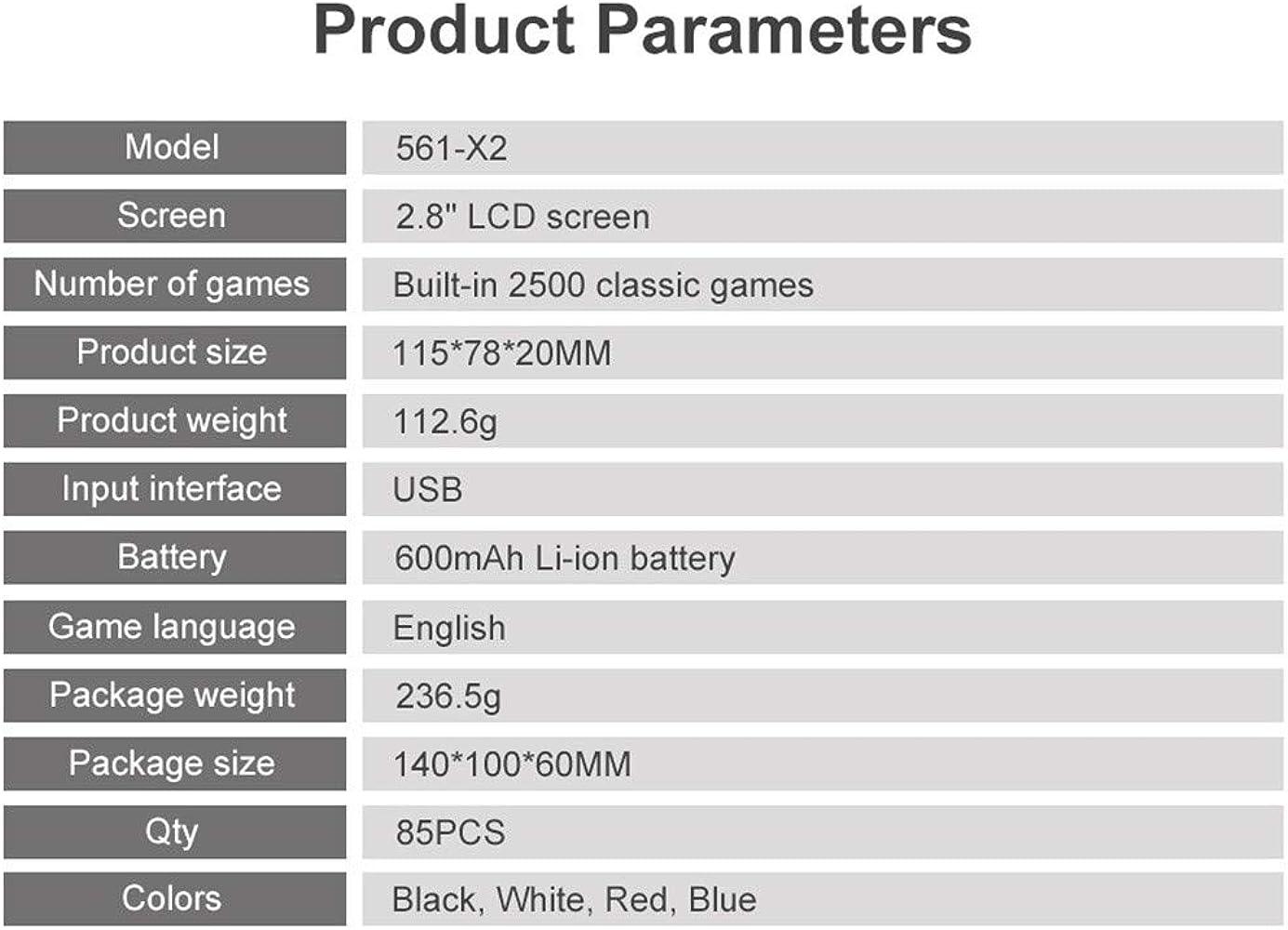 Bestyyo X2 - Consola de Videojuegos portátil (conexión de TV, NES ...