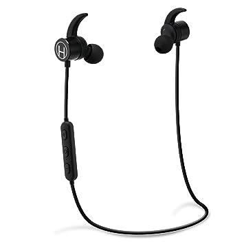 H200 Auriculares Bluetooth Inalámbricos, In-the-ear auriculares Bluetooth auriculares con micrófono - Bluetooth Headset para actividades de gimnasio y ...