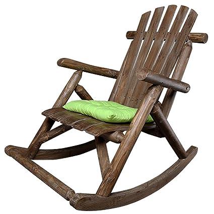 Amazon.com: QYJ-Chairs - Sillón mecedora de madera maciza ...