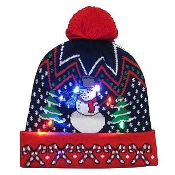 Kids Adult 2018 Christmas LED Light-up Hat 8f4be4af6c71
