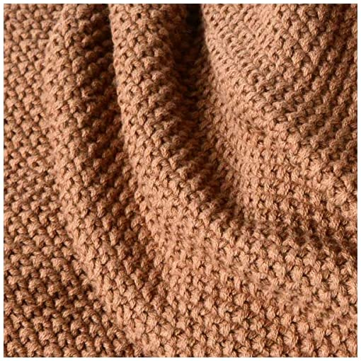Bedroom Saim Comfy Cotton Throw Blanket Cable Knit Lightweight Couch Blanket Farmhouse Decor Solid Crochet Sweater Texture Cable… farmhouse blankets and throws