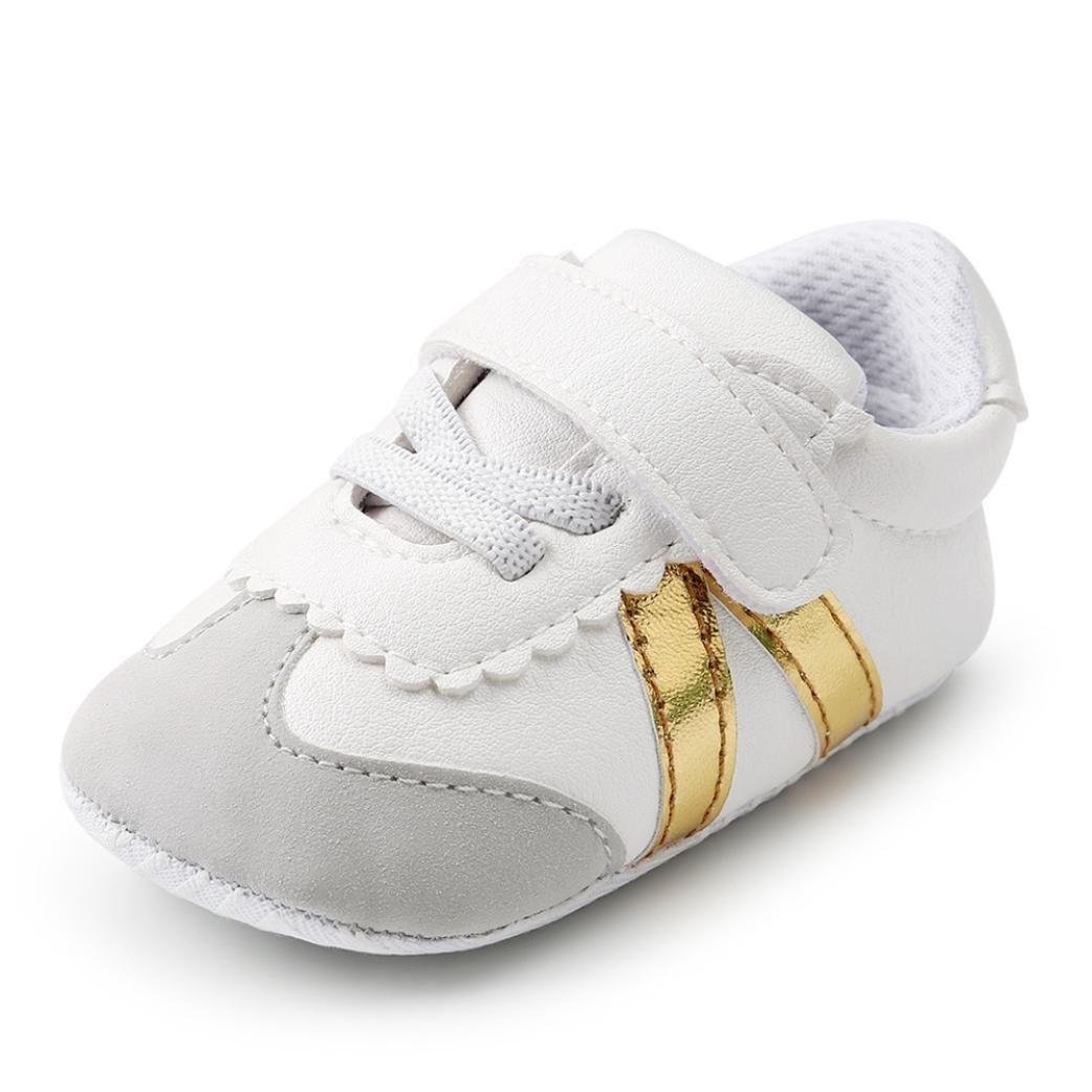 MEIbax Babyschuhe, 2018 Mode Kleinkind Erste Wanderer Kind Schuhe, Verband Weichen Sohle Schuhe Kleinkind Turnschuhe Freizeitschuhe, Streifen-beiläufige Wanderschuhe