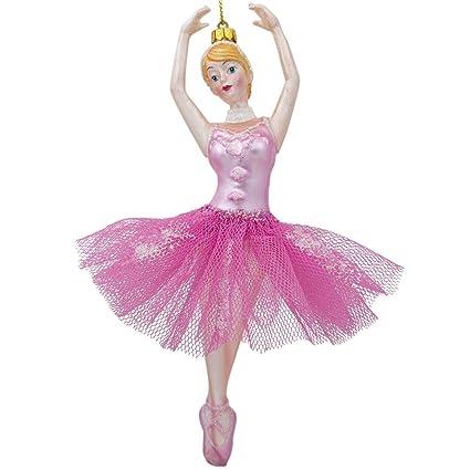439e6e4d33b4 Amazon.com  BestPysanky Dancing Ballerina in a Pink Dress Glass ...