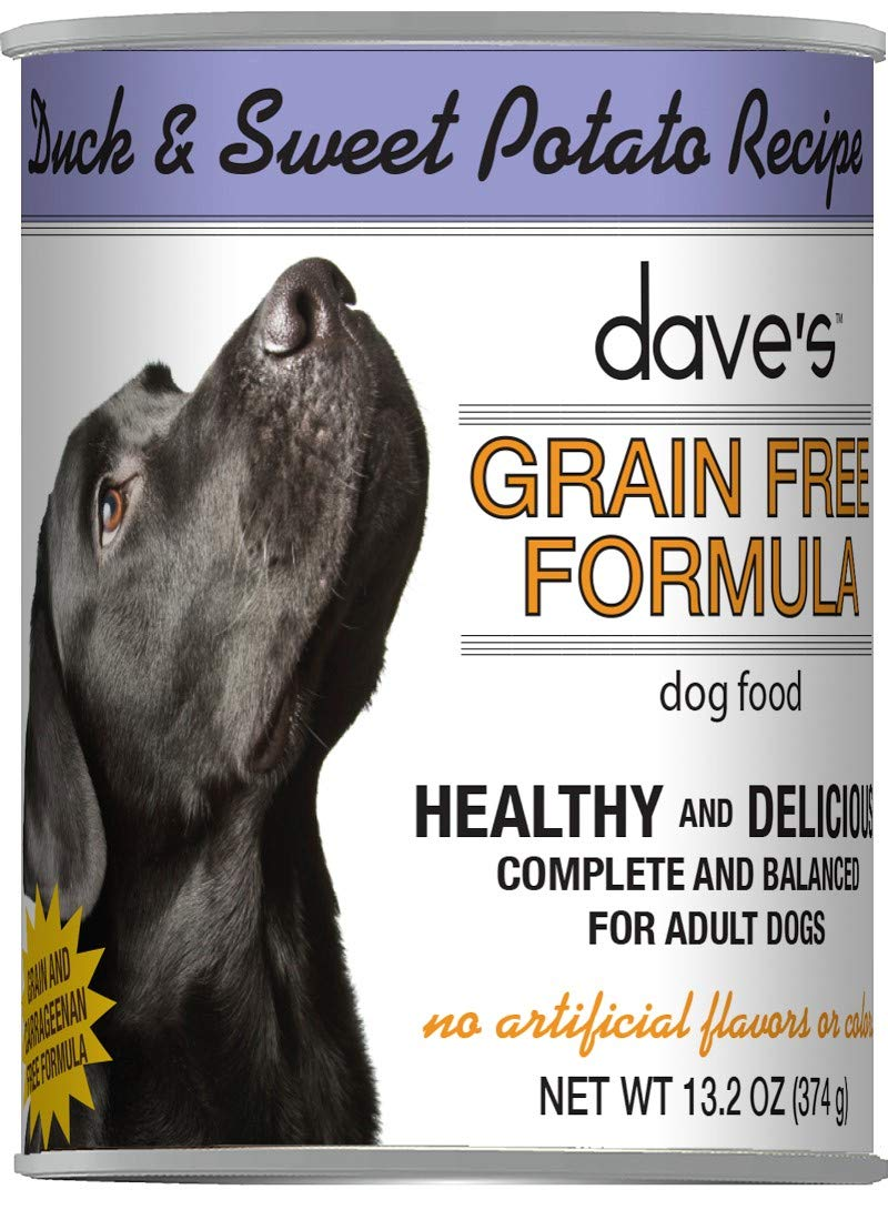 Dave's Grain-Free Dog Food - Wet Canned Dog Food - Duck & Sweet Potato - Case of 12, 13oz Cans by Dave's Pet Food