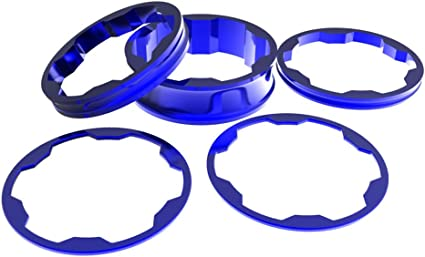 "Box Components Zero Stem Spacer Kit 1-1//8/"" Blue"