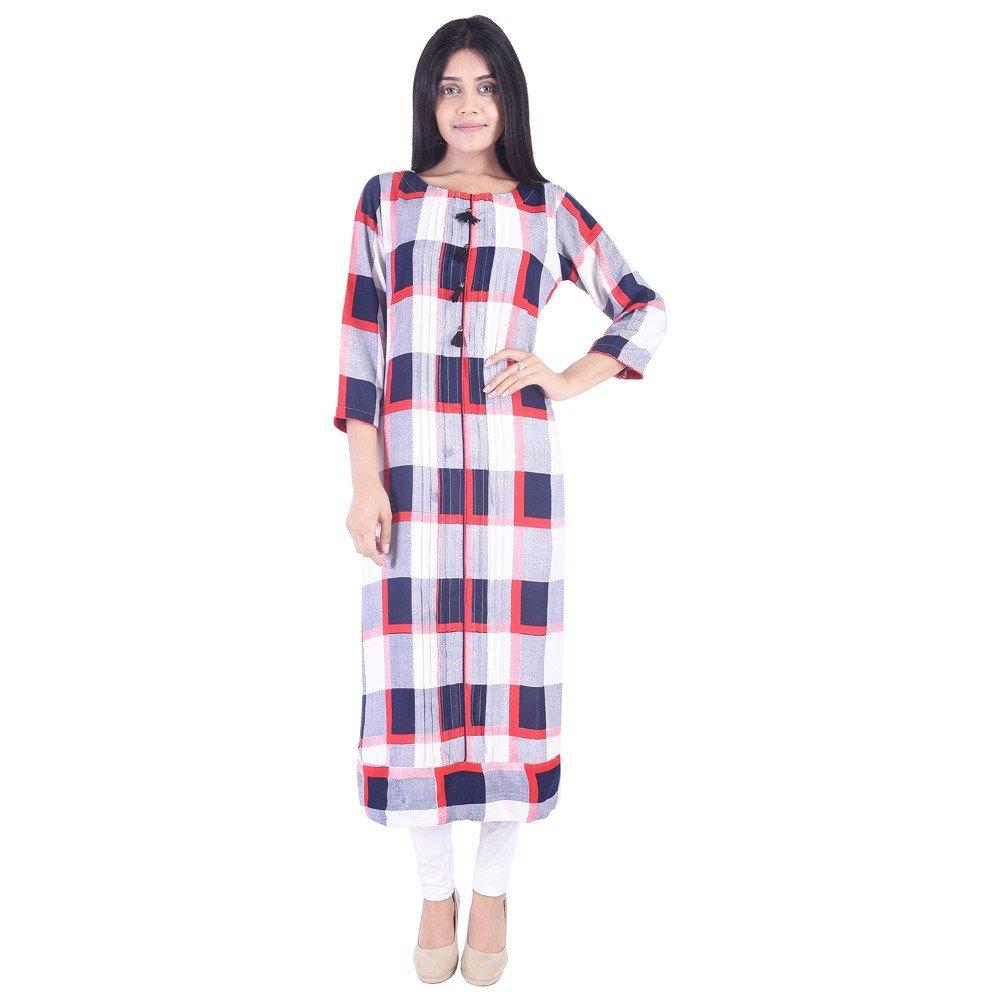 Vihaan Impex Kurtis Ethnische Frauen Kurta Kurti Tunika Top Kleid Neue Freizeitkleidung VIKU6085
