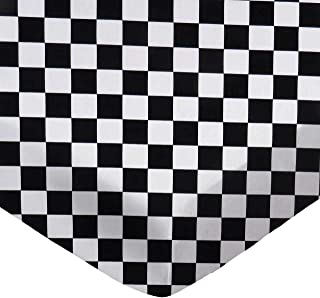 product image for SheetWorld Fitted 100% Cotton Percale Bassinet Sheet 15 x 33, Black White Checkerboard, Made in USA