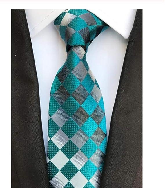 YiJiaMei Corbata de seda para hombre Corbatas florales de 8 cm ...
