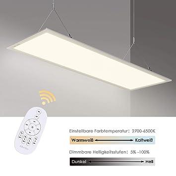 Top Albrillo LED Panel 120x30cm - 40W Dimmbar und Farbtemperatur PL69