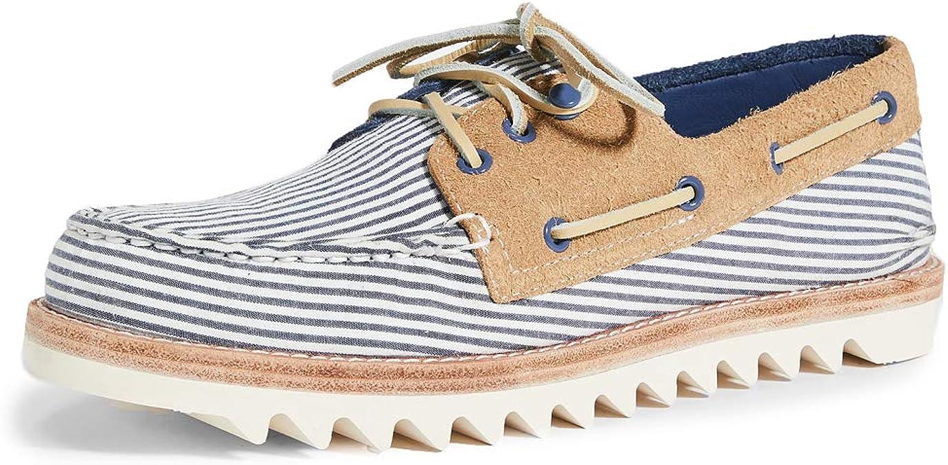 Eye Seersucker Boat Shoes, Navy