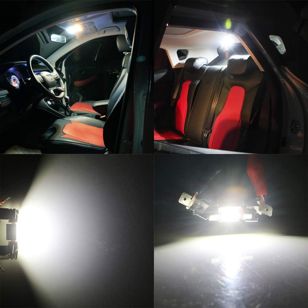 Lot de 4 GLL 31MM C5W LED Canbus CSP 1860-1SMD 650 Lumens Pour Feux de Voiture /à LED Ampoules de Plaque Dimmatriculation Lumi/ère de Stationnement Ext/érieur Pour Coffre Lumi/ère Pour D/ôme de Lumi/ère