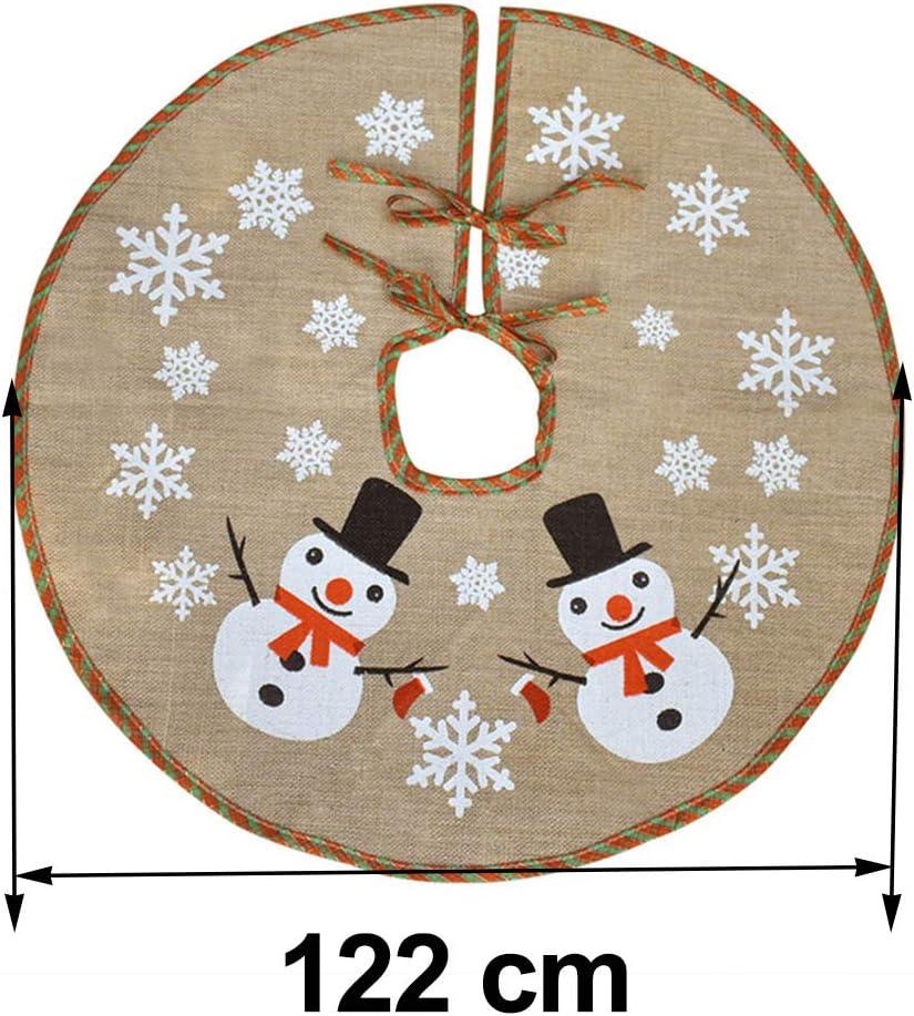 Awtlife Falda de árbol de Navidad de 122 cm con arpillera para ...