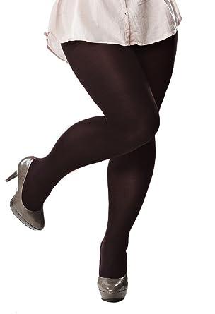 98fc3627b0df5 Plus Size 120 Denier Black Opaque Tights for Curvy Ladies Size - L/XL/XXL:  Amazon.co.uk: Clothing