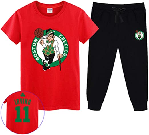 T-SHIRT Conjunto De Camiseta De Fan De La NBA Celts Kyrie Irving ...