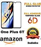 Doubledicestore Full Glue 6D Edge Screen Protection Tempered Glass for OnePlus 6T
