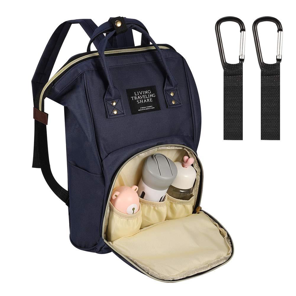 Wasserabweisend Multifunktionale Babytasche mit Gro/ßer Kapazit/ät Blau Reisetasche Reiserucksack SUI-lim Baby Wickelrucksack Wickeltasche Gro/ß mit Kinderwagenhaken viele F/ächer