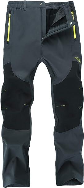 FREE SOLDIER Impermeables y Cortavientos para Escalada y Senderismo con Forro 40 Negro Pantalones Softshell para Hombre