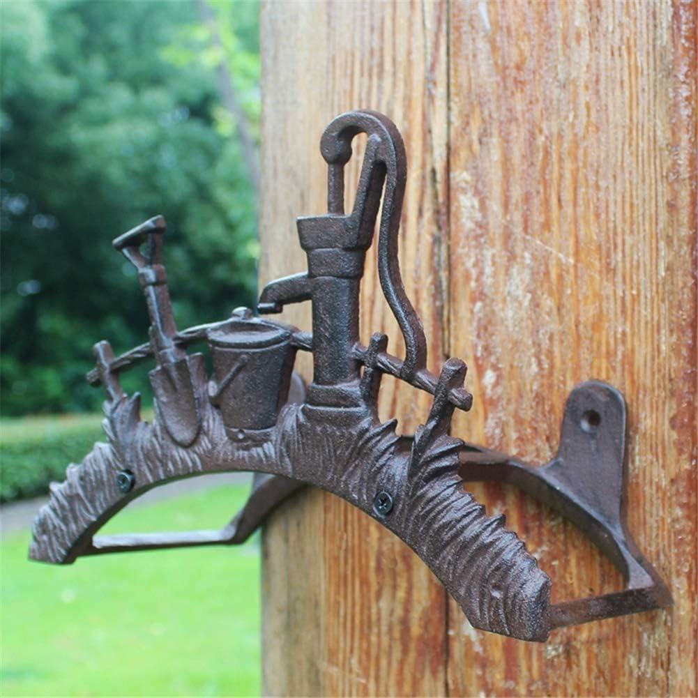 para montaje en pared Moritz Soporte de pared para manguera de jard/ín de hierro fundido