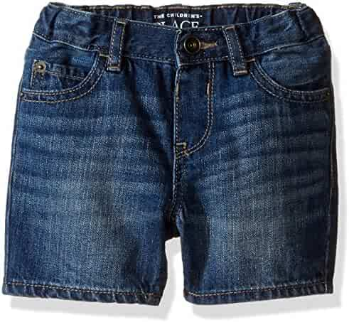 The Children's Place Baby-Boys' Li'l Guy's 5 Pocket Denim Shorts