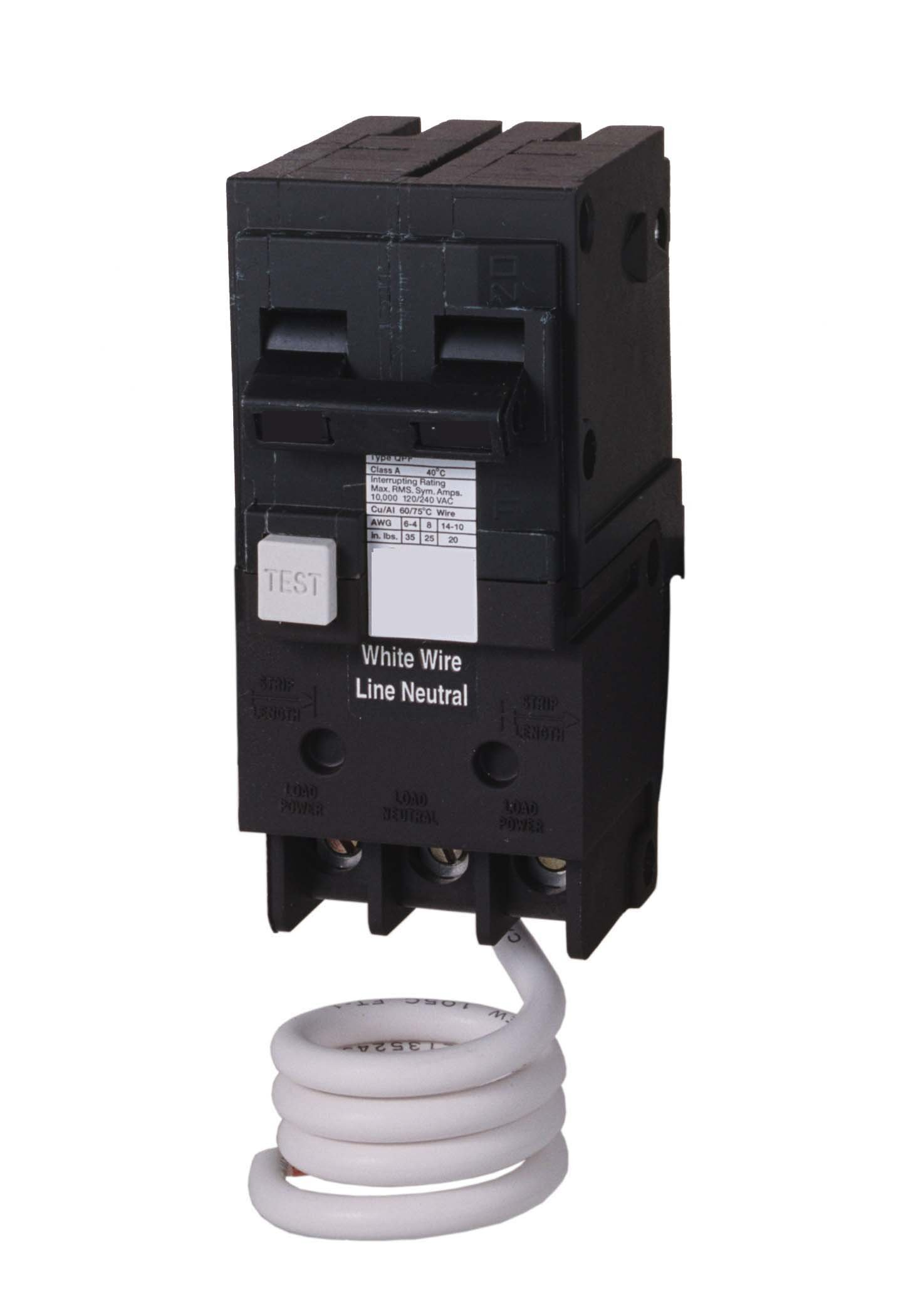 Siemens QF220H 20-Amp Double Pole 120/240-Volt type QPF Ground Fault Circuit Interrupter
