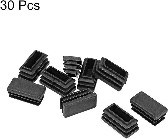 Sourcingmap 30 x 15 mm, 30 unidades Tapones de pl/ástico rectangulares