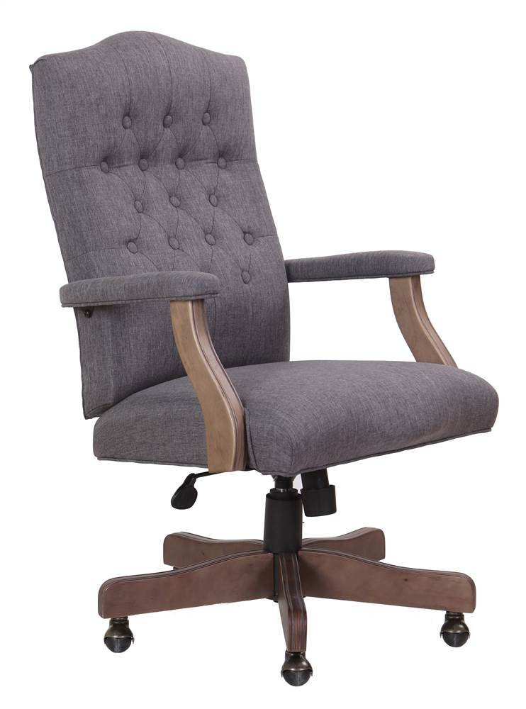 Boss Office Products B905DW-SG Executive Commercial Swivel Chair Slate Grey