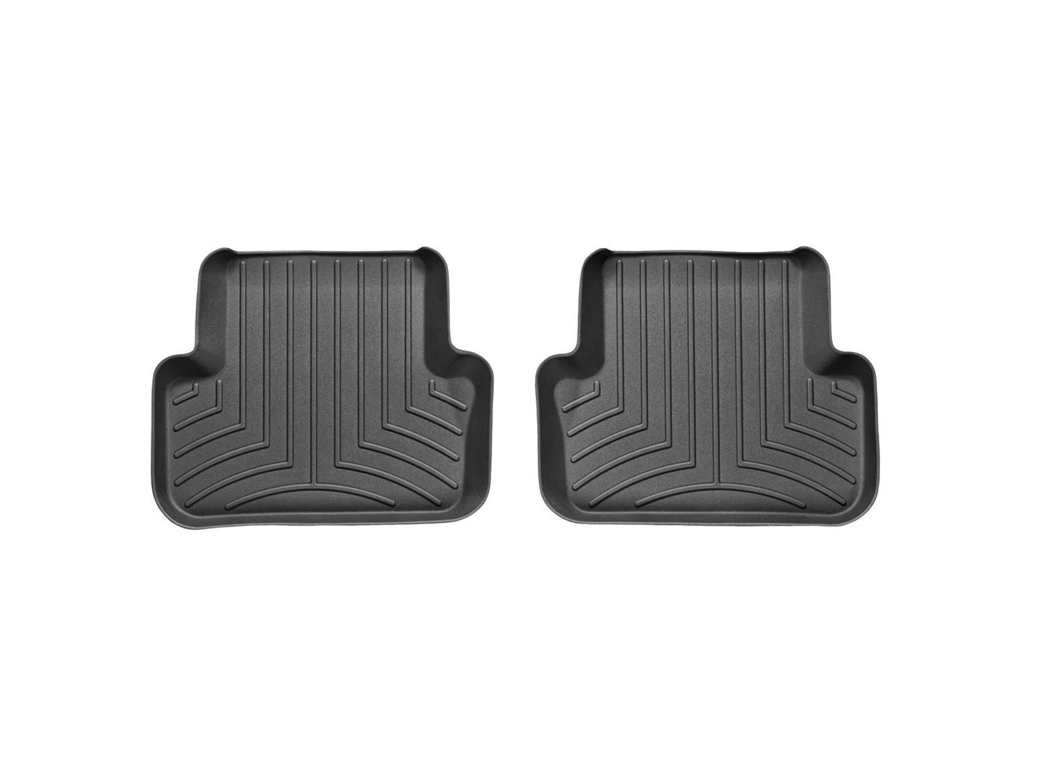 WeatherTech Custom Fit Rear FloorLiner for Select Audi Models (Black) 442122