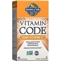 Garden of Life Vitamin Code Raw Vitamin C - 60 Capsules, 500mg Whole Food Vitamin C, Fruit & Veggie Blend, Probiotics…