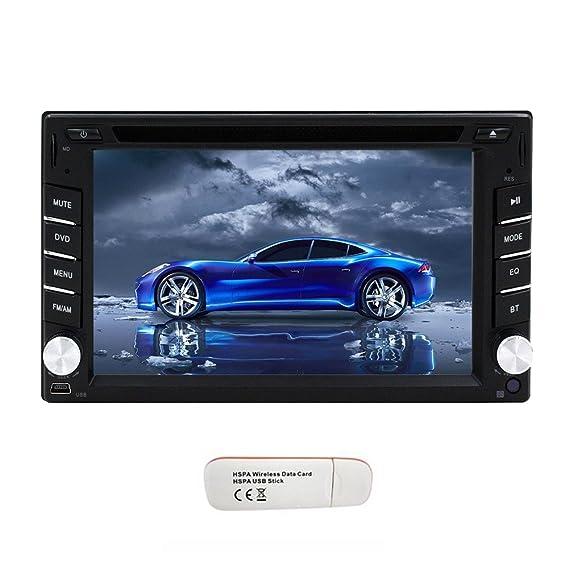 6,2 pulgadas de coches reproductor estšŠreo receptor motorizado de visualizaciš®n de la ayuda 3G a Internet en el tablero de navegaciš®n GPS con pantalla ...