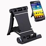 SODIAL(R) Negro - Mini Soporte de Mesa para Telefono Movil /Telefono Inteligente/ IPHONE /BlackBerry