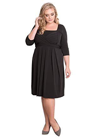 Igigi Womens Plus Size 34 Sleeve Classic Designer Cocktail Dress