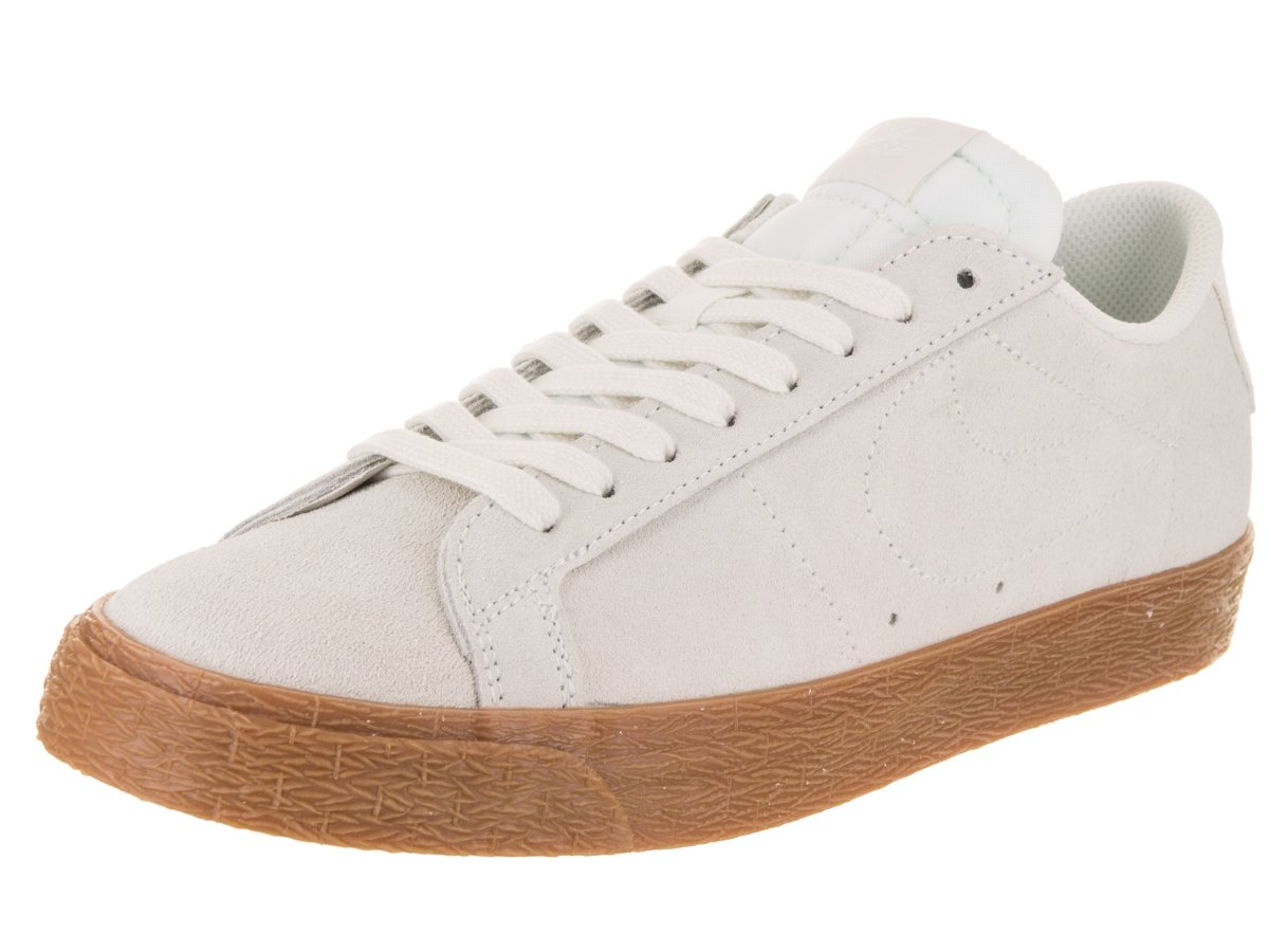 NIKE Men's SB Zoom Blazer Low Skate Shoe 8 D(M) US|Summit White / Gum
