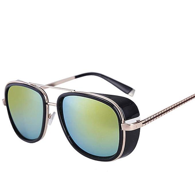 2baec55667 Gafas,Gafas de sol,Iron Man Punk Sunglasses Zonnebril Mannen Tony Stark  Hippie Glasses