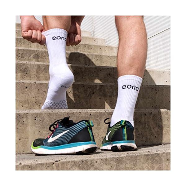 Eono Essentials Calzini Sportivi, Performance Sport Socks da Uomo e da Donna (da 3 Pezzi), Tennis, Basket, Fitness, Uso… 4 spesavip