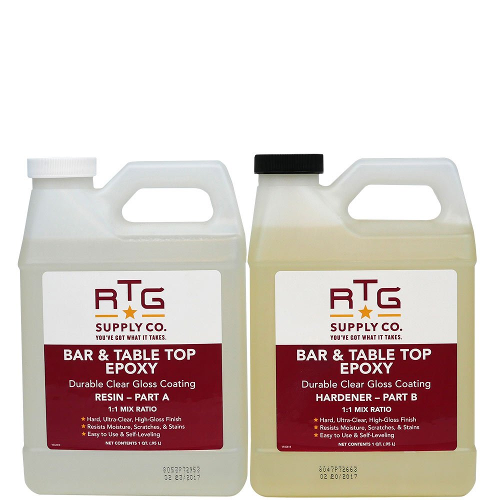 RTG Bar & Table Top Epoxy Resin for Bars Countertops Furniture and Tables (2-Quart Kit) by RTG
