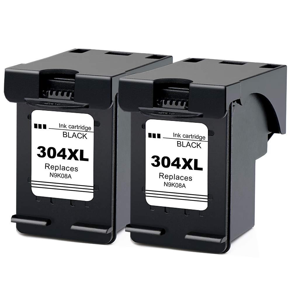 Ksera Remanufacturado Cartuchos de Tinta HP 304 304XL, Alto Rendimiento Reemplazos de 2 Paquetes (1 Negro, 1 Tricolor) Compatible con HP Envy 5010 ...