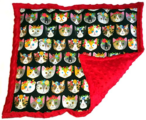Weighted Lap Pad for Kids & Adults - Portable Sensory Lap Blanket (5 lbs - Meow Mix) Click to See More Colors & Sizes